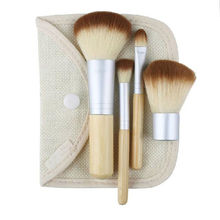 Hot Selling 4pcs/set BAMBOO Makeup Brush Set 4pcs Make Up Brushes Blush Brushes Eyeshadow Brushes