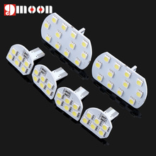 Super Bright Led Interior Dome Map Reading Light Lamp Interior Light for PEUGEOT 206 307 308 3008 408 508 CITROEN C5 6pcs/set(China)