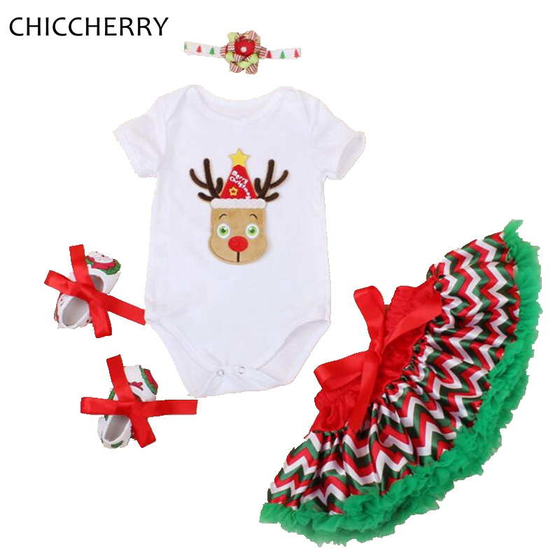 Reindeer Christmas Clothes for Baby Girl Bodysuit Lace Tutu Skirt Headband Crib Shoes Vetement Bebe Fille Infant Clothing Sets<br><br>Aliexpress