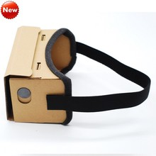 DIY Virtual Reality Glasses Google Cardboard Comfortable Glasses 3D Glasses VR Box Movie For iPhone 6 7 SmartPhone VR Headset(China)