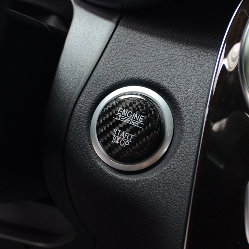 Carbon-Fiber-Car-Engine-Start-Stop-Button-Cover-Keyless-Go-Ignition-Stickers-for-Mercedes-Benz-A (2)