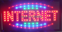 Led- 2017 Internet led neon sign hot sale 10X19 inch indoor Ultra Bright running Internet Bar Neon light sign