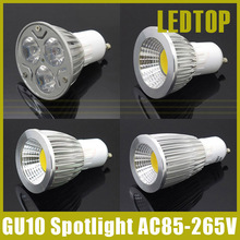 15W 12W 9W 6W 85V-265V Gu10 Dimmable High Power / COB LED Spotlight Lamp Warm White/ White LED Light Bulb Downlight