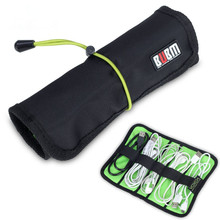 BUBM Brand Roll Storage Bag For Digital Gadget Devices USB Cable Earphone Pen Electronics Accessories Travel Bag Organizer Pouch