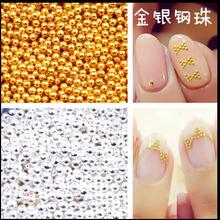 1000/100pcs small nail ball metal 1mm nail dot highlight super beautiful gold silver not fade high quality nail art tool