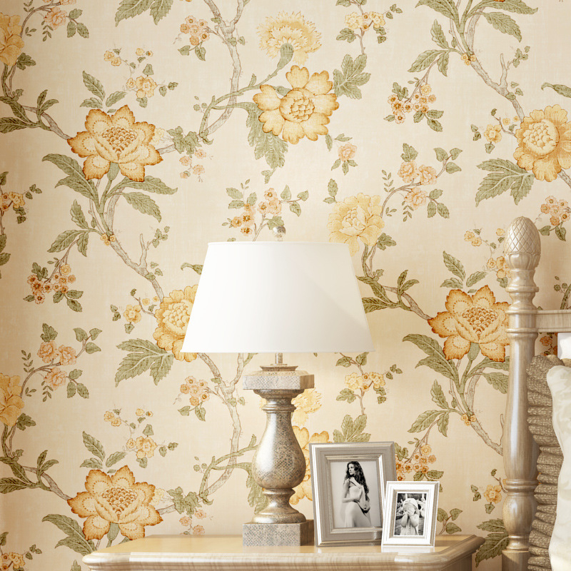 Beibehang European Luxury Vintage garden flowers Wallpaper Home decoration papel de parede Living Room Background 3D wallpaper<br>
