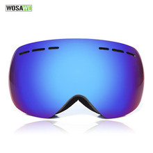 WOSAWE Brand Designer Sport Ski Goggles with Interchange Nightview Lens Anti-fog Super Wide View Snowboard Goggles