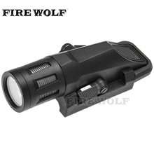 FIRE WOLF WML BK Short Version Gun Tactical Weapon Light Waterproof Airsoft Flashlight Fit 20mm Picatinny Rail For Hunting(China)
