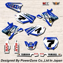 WR YZ YZF 125 250 400 450  Team Graphics Backgrounds Decals Stickers  Motor cross Motorcycle Dirt Bike MX Racing Parts YGR032