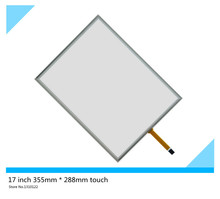 17 inch 4 wire 355mm*288mm Resistive Touch Screen Digitizer for cash register queuing machine Display the touchpad
