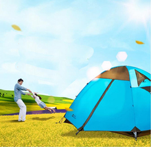 Outdoor hiking windproof rainproof aluminium rod double layer camping tent 3/110808
