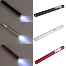 Mini 3W LED Pen Torch Waterproof Flashlight Light 1 Mode Aluminum alloy Long Life Lamp With Belt Clip led pen light Flashlight