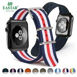 Eastar тканый нейлоновый ремешок для наручных часов Apple Watch, версии 3, 42 мм, 38 мм, версия ткань-как ремень, для iwatch, версия 3, 2, 1 ремешок на запястье, ...