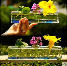 Contracted their square glass vase transparent receptacle household act the role ofing is tasted furnishing articles(China)
