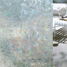 45*200cm/lot Decorative Films Privacy Static Window Film No Glue Water Transfer Printing Film 3D Laser Bathroom ST005