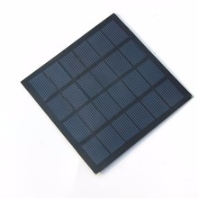 Wholesale! 1.5W 6V 250mA Mini Polycrystalline Solar Panel Small Resin Solar Cell Solar Module 110*110MM 24pcs/lot Free shipping(China)