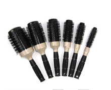 6 Sizes Black Durable Ceramic Ionic Round Comb Barber Hair Dressing Salon Styling Tools Brushes Barrel Hairbrush Hair Combs Tool