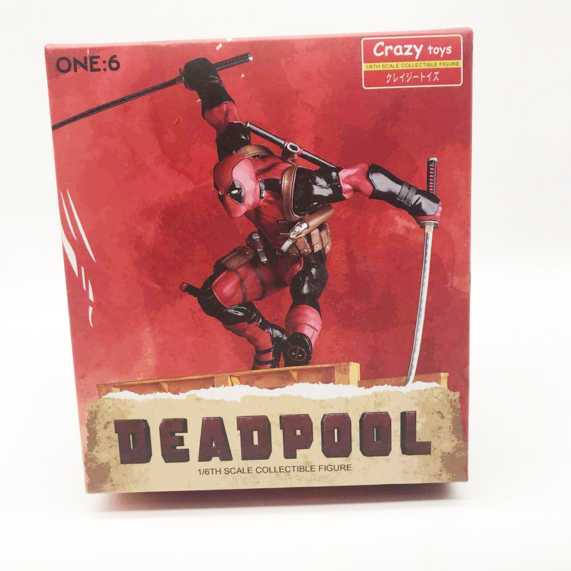 26cm Crazy Toys Deadpool Figure X-MEN Play Arts Dead Pool Deadpool PVC Action Figures Resin Collection Model Doll Toy Gifts (1)