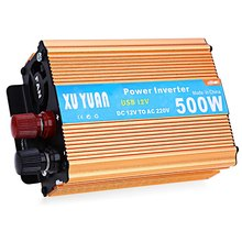 500W Vehicle Power Inverter with USB Charging Port DC 12V to AC 220V LED Display Aluminum Alloy Case 500W Car Power Inverter