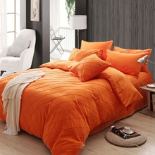 New Design Home Bedding Sets Duvet Cover Bedspread Comfortable Bedclothes Pillowcase Sets Fitted Sheet Bed Sets Solid Color