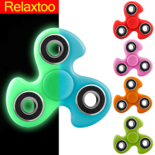 Luminous Fidget Spinner Hand Spinner EDC Tri-Spinner For Autism ADHD Kids / Adult Funny Anti Stress Child Finger Toys 11 Colors