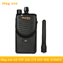 Walkie Talkie Mag One A8 VHF 150-174MHz 5W Portable Two-Way Radio handle interphone Ham CB radio Transceiver(for motorola)(China)