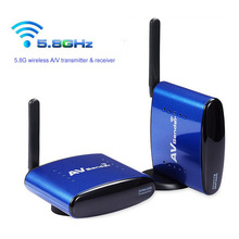 Wireless 5.8G AV Sender 200M Wireless Transmitter Receiver For DVD DVR IPTV With Power adapter(China)