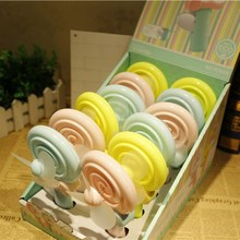 Popular Toys Educational Hand Press Mini Handheld Fan Small Lovely Lollipop Fan Pocket Fan