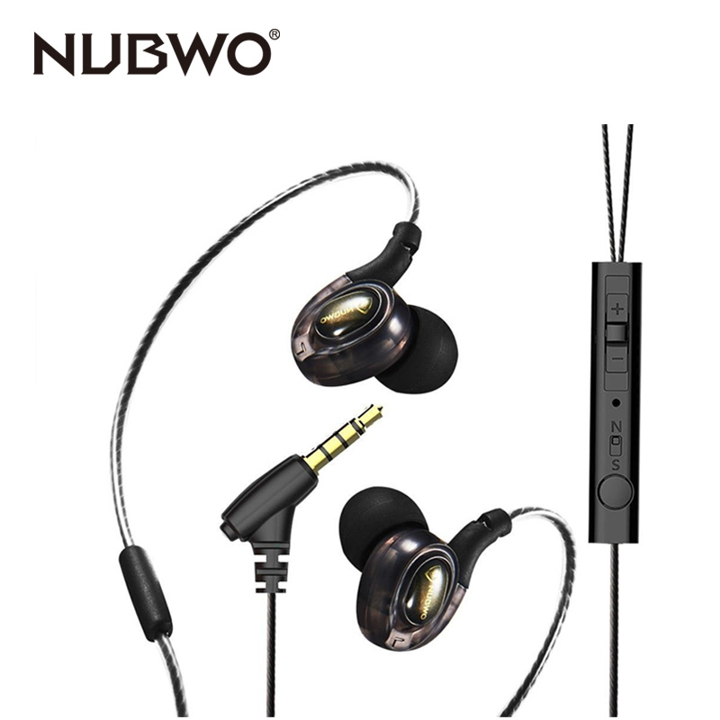 NUBWO NY56 3.5mm Jack Wired Earphones With Mic Super Bass  Hands-free Sport headphones For Samsung Galaxy<br>