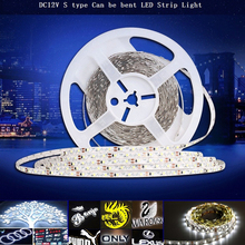 KINLAMS 2017 New LED Strip Light S type SMD2835 DV12V Flexible LED Light 60LEDs/M 5M Non Waterproof  For Advertisement