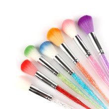 1PCS Nail Art Pen Brush Tool Dust Clean Acrylic Handle UV Gel Powder Remover Rhinestone Manicure Pedicure Cleaner Brushes(China)