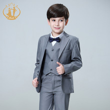 Nimble suit for boy Single Breasted boys suits for weddings costume enfant garcon mariage boys blazer jogging garcon grey(China)