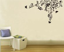 Free Shipping 160*100cm Hot Selling Wall Decal DIY Decoration Fashion Romantic Flower Wall Sticker /Home Sticker Manufacture(China)