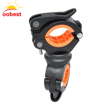 oobest cycling flashlight stand bicycle pump holder lamp LED torch mount clip bracket quick release 360 degree rotation(China)