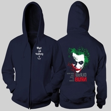 the killing joker Batman why so serious some men just want to watch the world burn girls female woman full zip hooded coat(China)