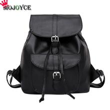 MOJOYCE Women's Drawstring PU Leather Backpack Schoolbag Teenage Beautiful Backpacks Women High quality ladies Back Pack