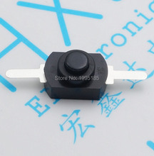 50pcs/lot 1208YD 2Pin Flashlight Power Switches Push Button Switches Black