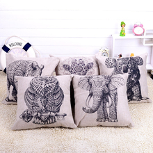 Cool Monochrome Print 5 Style Animal Pattern Cushion Cover Available Fashion Soft Linen Stuffed Pillow Toys Pillowslip