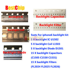 5set/lot for iPhone 6 6plus Backlight solutions Kit IC U1502 +coil L1503 +diode D1501 +Capacitor C1530 31 C1505 filter FL2024-26(China)