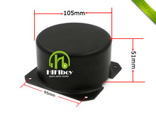 HIFIBOY toroidal transformer cover the external size is 105*51mm balck metal Metal Shield cover(China)