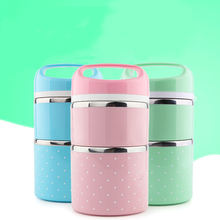 Buy DUOLVQI Stainless Steel Portable Cute Mini Thermal Lunch Boxs Kids Picnic Bento Box Leak-Proof Container Food Storage for $9.99 in AliExpress store