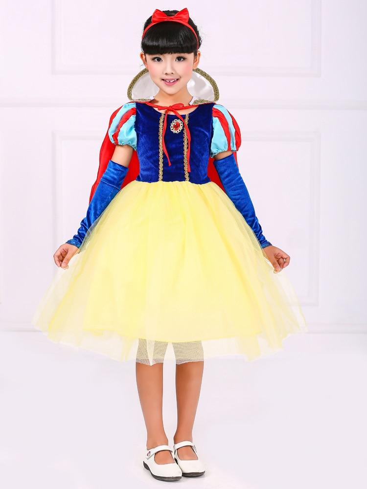 Fashion high quality 3 pieces princess snow white dress kids customes girl birthday party wear<br><br>Aliexpress