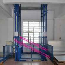Guide rail hydraulic lift platform use for cargo lifting in warehouse made as requested(China)