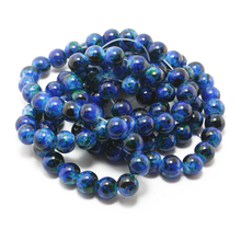 Latest Designed Approx 100pcs/lot 8mm Dark Blue Glass Round Beads for Jewelry Making & DIY for Bracelet (Painted at random)(China)