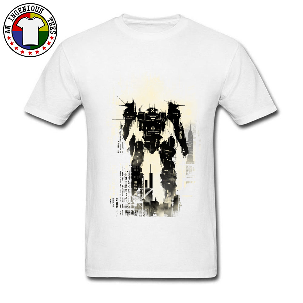 The Builder Printed On Tops T Shirt Short Sleeve for Men Pure Cotton Summer/Autumn Crew Neck T Shirt Design Sweatshirts Funny The Builder white