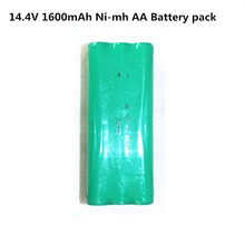 14.4v ni-mh rechargeable aa 1600mah 14.4v vacuum battery for fo Papago S30C sweeping VONE T285D cleaner intelligent robot(China)