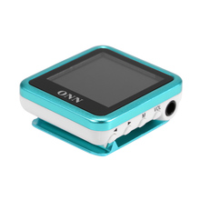 ONN Q6 8GB MP3 Music Player 1.5 in TFT with Stereo Sound Headphone Earphone FM Recording Clip Design
