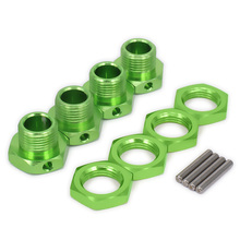 M17 17mm Aluminum Wheel Hex Hubs Adapter Nut Fine w/Pin for 1/8 RC Car HPI HSP Traxxas Losi Axial Kyosho Tamiya Redcat Himoto