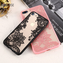 KISSCASE Phone Cases For iPhone 6 6s Plus 7 7 Plus 5 5s SE Luxury Lace Flowers TPU Cover Case For iPhone 7 7 Plus 8 8 Plus X 5s(China)