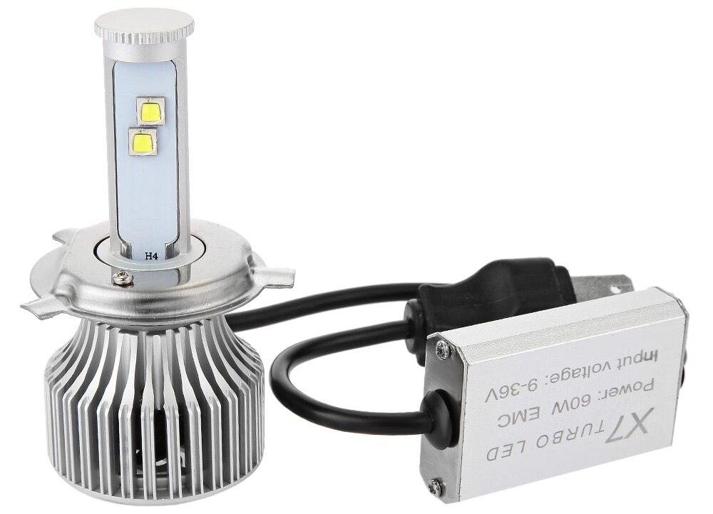 H4 LED Headlight 6000K X7 Car Headlight Automotive Headlamp Bulbs Conversion Kit White Auto Front Fog Light Bulb Heat-resistant<br><br>Aliexpress